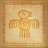 Декоративная этническая граница на части пергамента Стоковые Изображения