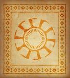 Декоративная этническая граница на части пергамента Стоковое Изображение RF