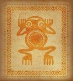 Декоративная этническая граница на части пергамента Стоковая Фотография RF