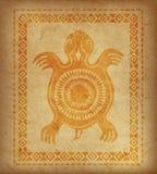 Декоративная этническая граница на части пергамента Стоковая Фотография