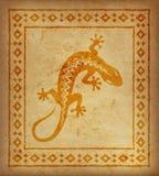 Декоративная этническая граница на части пергамента Стоковые Изображения RF