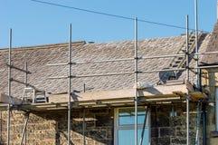 Декоративное восстановление крыши шифера в Уэльсе Стоковые Изображения RF