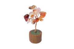 Декоративное дерево shui feng сделанное самоцветов Стоковое Изображение