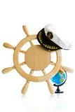Декоративное деревянное рулевое колесо Стоковое Изображение