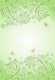 Декоративное знамя зеленого цвета весны Стоковые Изображения RF