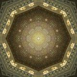 Декоративное исламское искусство потолка Стоковая Фотография RF
