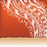 Декоративное квадратное знамя Стоковые Изображения