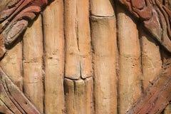 Декоративное конкретное украшение фасада в парке Стоковая Фотография