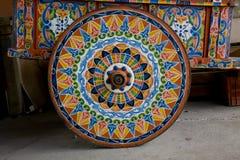 Декоративное колесо тележки Стоковая Фотография