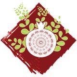 Декоративное орнаментальное гранатовое дерево Стоковые Изображения RF