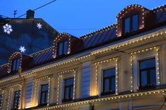 Декоративное освещение на доме Стоковое фото RF