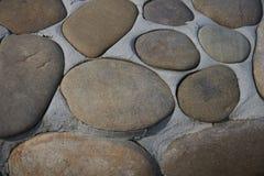Декоративное покрытие больших морских камешков Стоковое Изображение