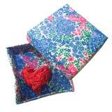 Декоративное сердце в коробке Стоковое Изображение RF