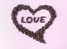 Декоративное сердце кофе Стоковые Фото