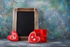 Декоративное сердце ткани на день валентинок Стоковая Фотография