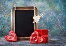 Декоративное сердце ткани на день валентинок Стоковые Фото