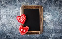 Декоративное сердце ткани на день валентинок Стоковые Изображения RF
