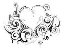 декоративное сердце иллюстрация штока