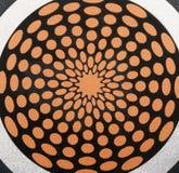 декоративное стальное солнце Стоковая Фотография RF