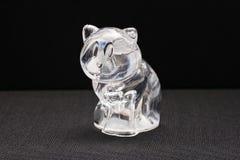 Декоративное стекло сувенира игрушки для того чтобы украсить кот Стоковое Фото