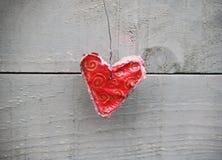 Декоративное handmade сердце Стоковые Фотографии RF