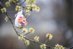 Декоративное jn пасхального яйца дерево Стоковое Изображение RF