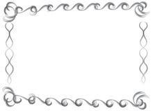 Декоративной нарисованные рукой граница и рамка цвета воды Стоковая Фотография RF