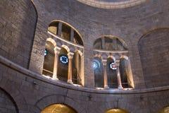 Декоративно украшенный интерьер аббатства Dormition в старом городе Иерусалима, Израиля стоковое изображение rf