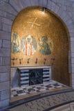 Декоративно украшенный интерьер аббатства Dormition в старом городе Иерусалима, Израиля стоковые изображения rf