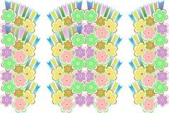 декоративно цветок romantically безшовный иллюстрация штока