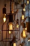 Декоративные античные электрические лампочки Стоковые Изображения