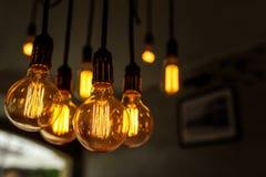 Декоративные античные электрические лампочки Стоковое Фото