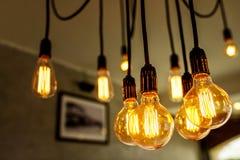 Декоративные античные электрические лампочки Стоковая Фотография
