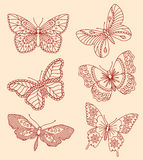 Декоративные бабочки иллюстрация вектора