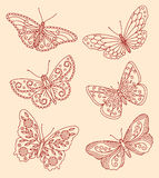 Декоративные бабочки иллюстрация штока