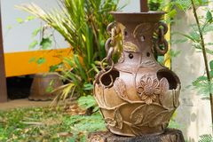 Декоративные вазы глины Стоковое Фото