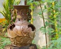 Декоративные вазы глины Стоковые Фото