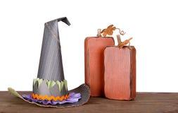 декоративные ведьмы тыкв шлема стоковая фотография rf