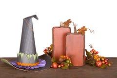 декоративные ведьмы тыкв шлема стоковое фото rf