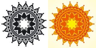декоративные геометрические розетки иллюстрация штока