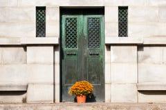 Декоративные зеленые двери Стоковая Фотография RF
