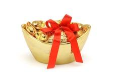 декоративные золотые инготы Стоковые Изображения
