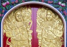 Декоративные искусства китайского ратника бога Стоковые Изображения RF