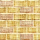 Декоративные кирпичи - текстура папируса - внутренняя отделка стен Стоковые Изображения RF