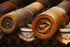Декоративные китайские плитки крыши Стоковое Изображение RF