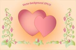 Декоративные красочные флористические сердца Вектор Eps10 Стоковые Изображения RF