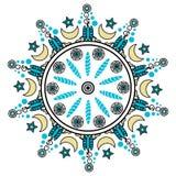 Декоративные круглые орнаменты иллюстрация штока