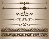 Декоративные линии и орнаменты иллюстрация штока