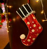 Декоративные носки на рождестве Стоковые Фотографии RF