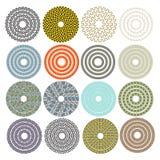 Декоративные орнаментальные круги Стоковые Фотографии RF